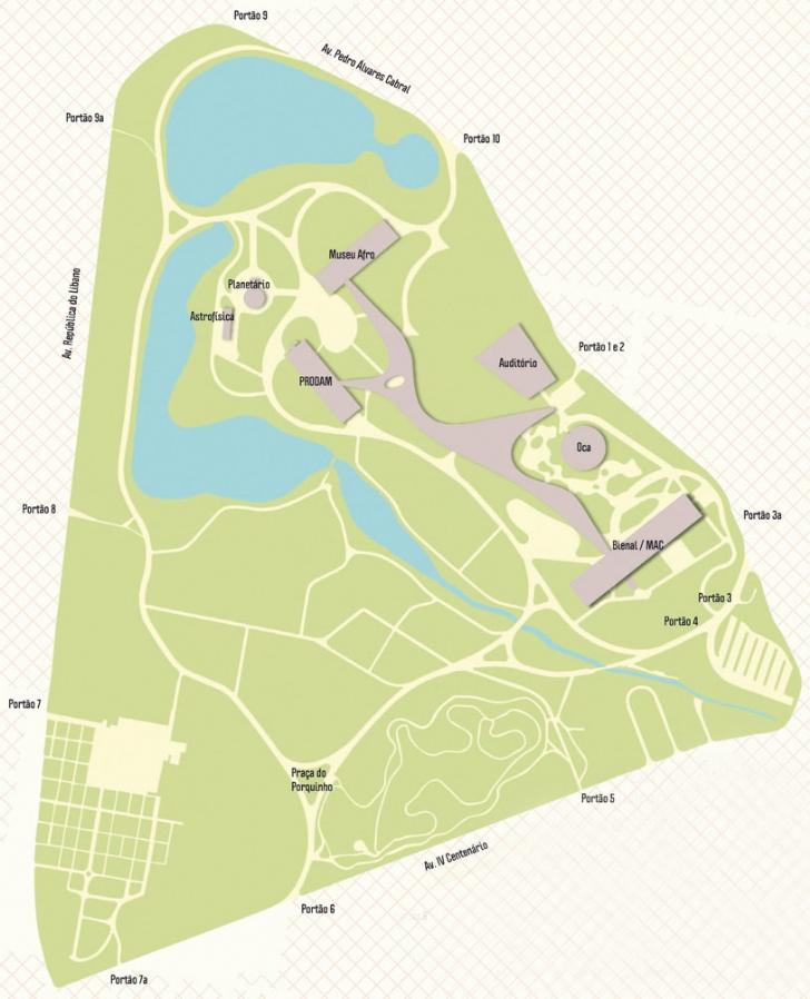 Mapa do Parque do Ibirapuera